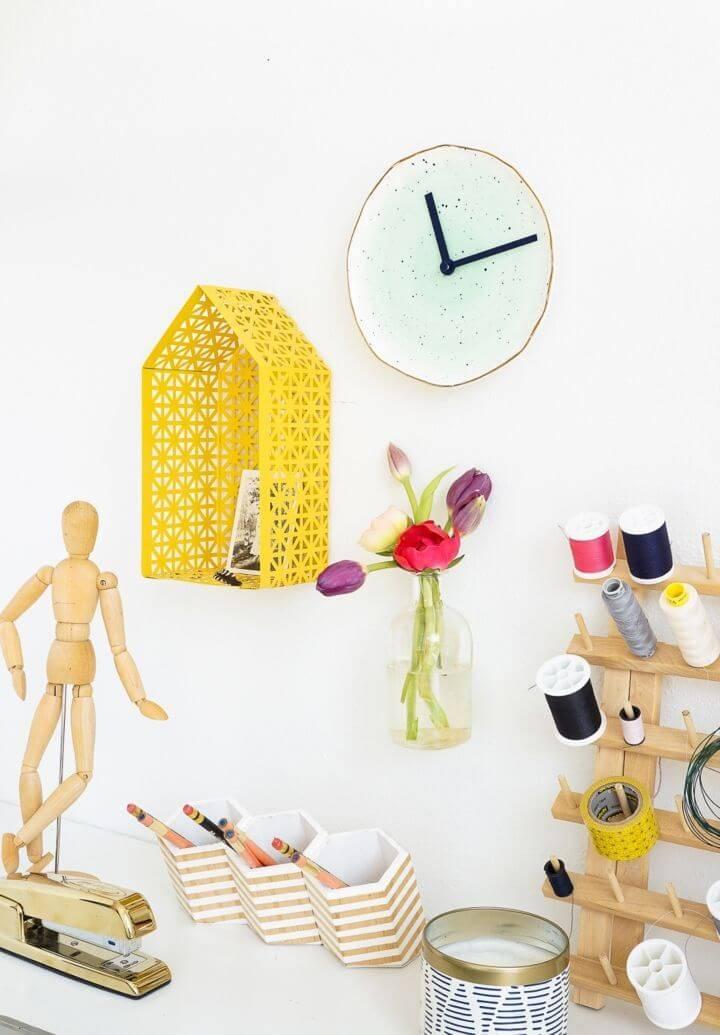 Stylish DIY Plate Clock