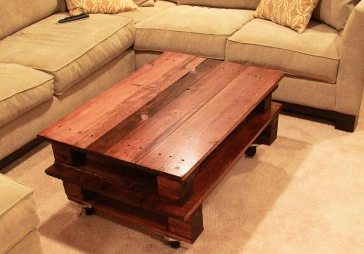 Turn Pallet into Coffee Table