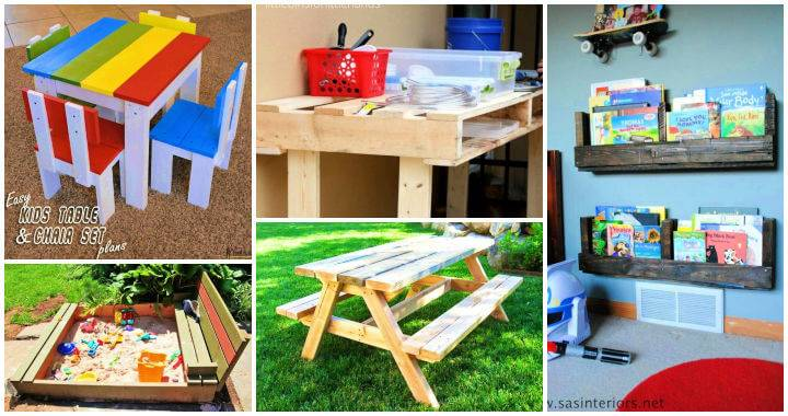 10 Easy Wood Projects For Kids Made out of Pallets 1