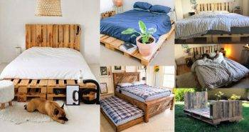 25 Pallet Bed Frame You Can Build with Free Pallets 1