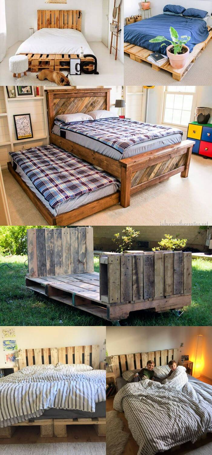 25 Pallet Bed Frame You Can Build with Free Pallets