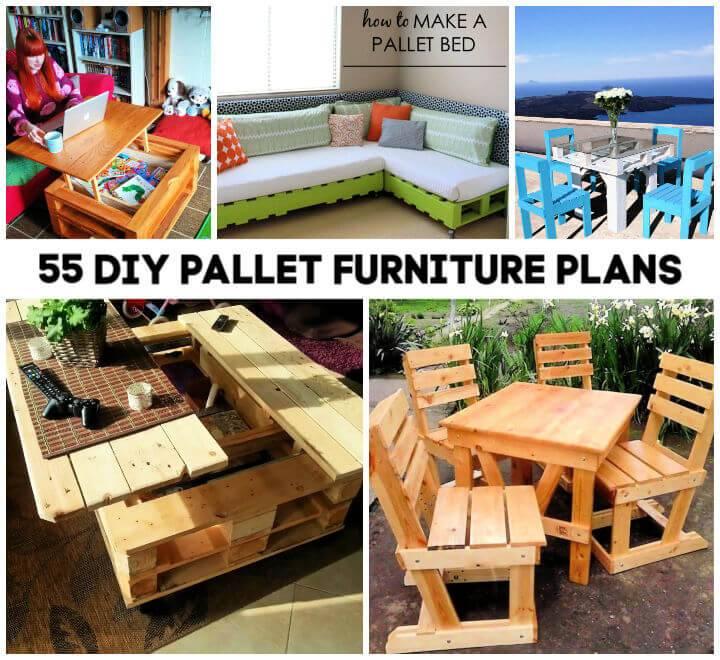 55 DIY Pallet Furniture Ideas Plans