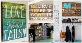 85 DIY Pallet Signs and Pallet Wall Art Ideas 1