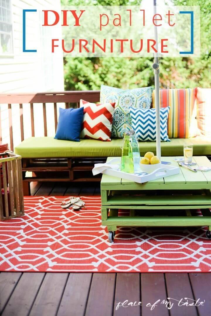 Build Pallet Furniture – Patio Makeover