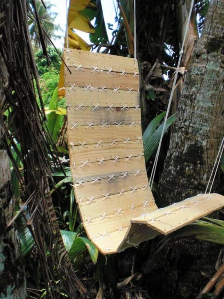 DIY Pallet Hanging Chair