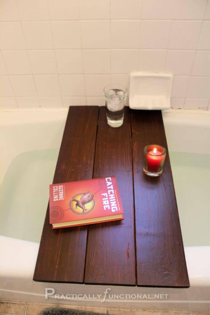 DIY Pallet Into Bath Shelf