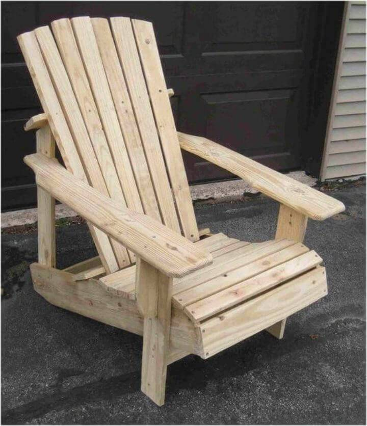 DIY Wooden Pallet Adirondack Chair Tutorial