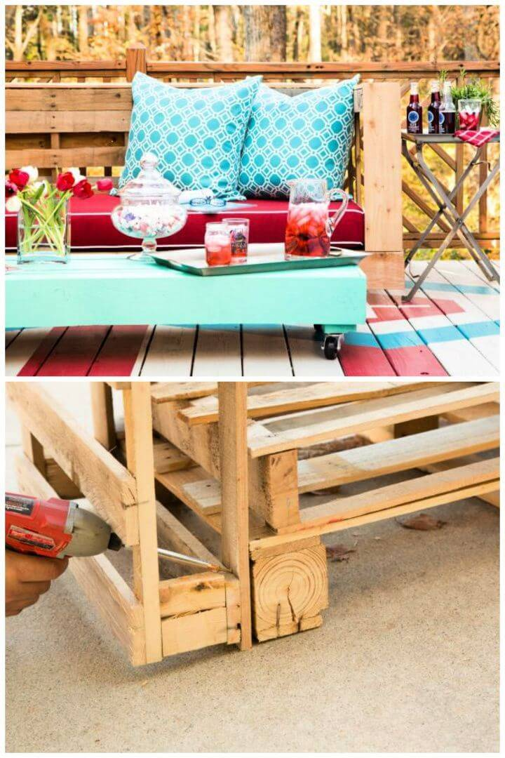 How to Make Stylish Outdoor Pallet Seating