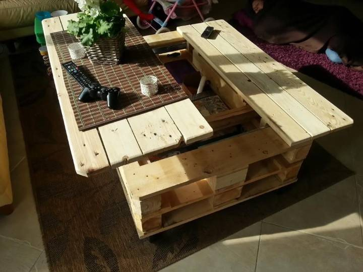 pallet coffee table plan step by step