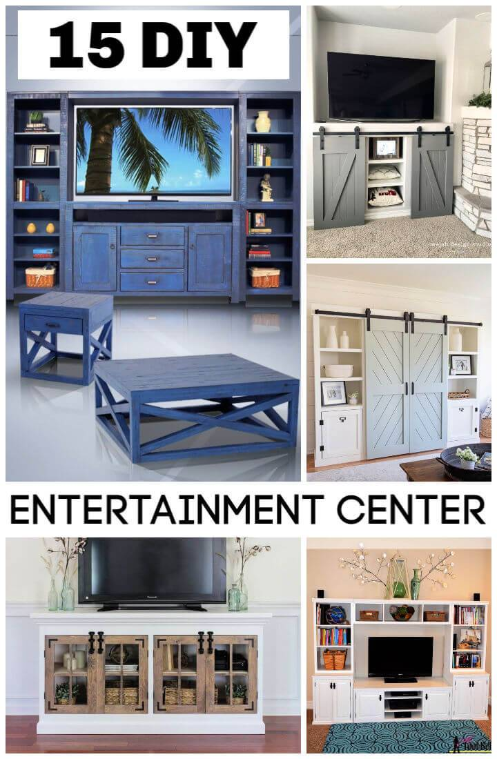 15 DIY Entertainment Center Plans for Weekend Home Project