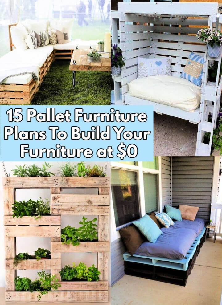 15 Pallet Furniture Plans To Build Your Furniture at 0