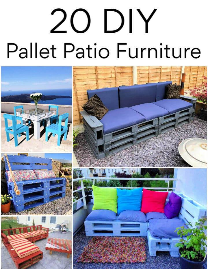 20 DIY Pallet Patio Furniture Projects Ideas