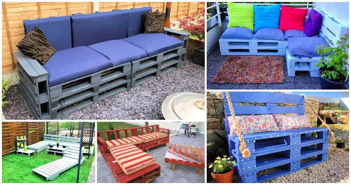 20 DIY Pallet Patio Furniture Projects