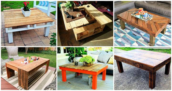 38 Adorable Wooden Pallet Coffee Table Plans Ideas