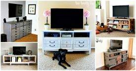 42 DIY TV Stand Plans That Are Easy To Build Cheap
