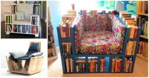 5 DIY Bookshelf Chair Plans for Reading Books