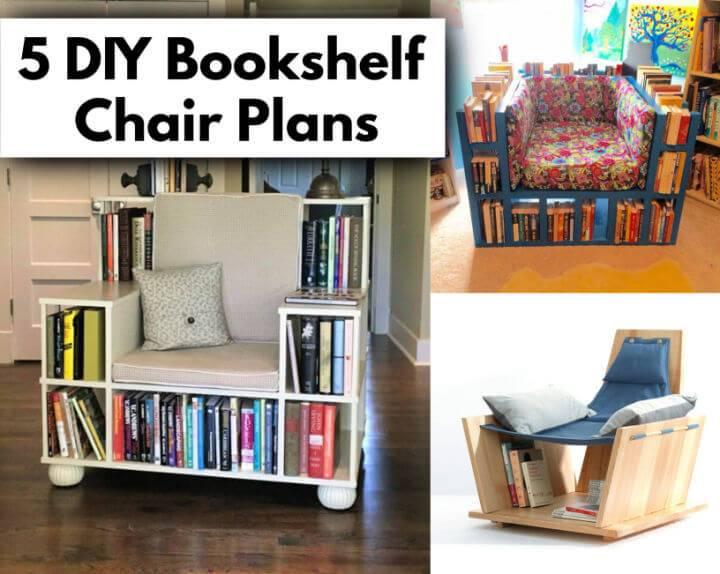 5 DIY Bookshelf Chair Plans for Reading Books DIY Crafts