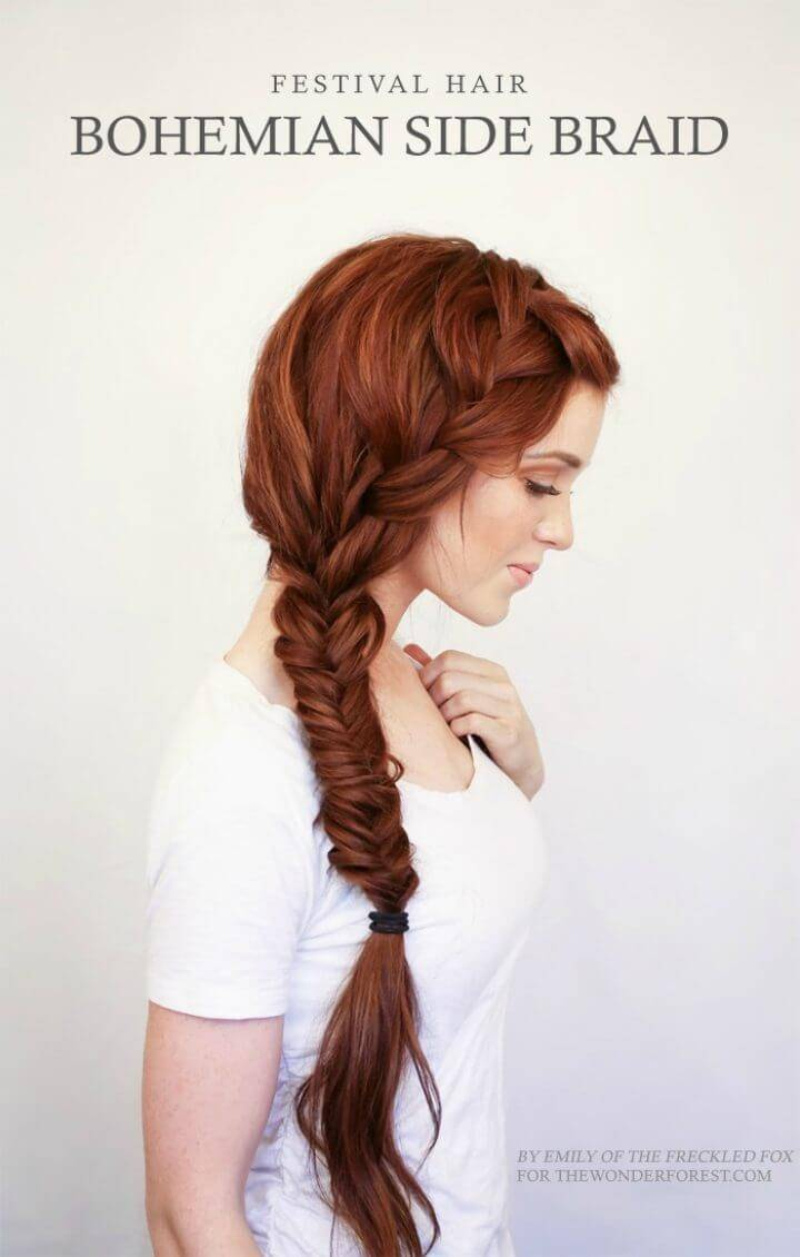 Beautiful Bohemian Side Braid