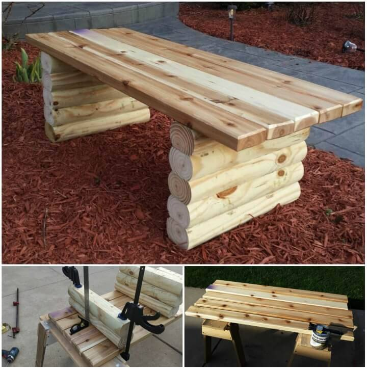 Beautiful DIY Garden Bench 1