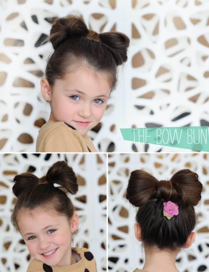 Bow Bun with a Bloom Clip