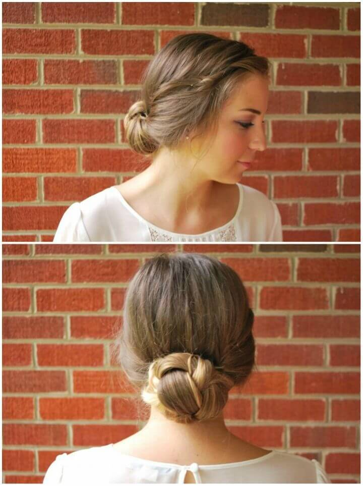 Braided Gibson Tuck 5 Minute Updo