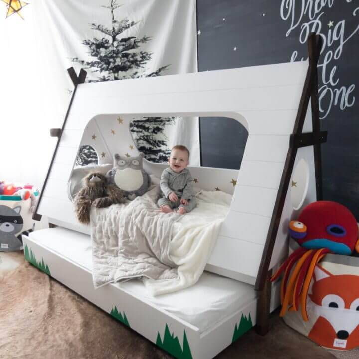 Build Kids Teepee Trundle Bed