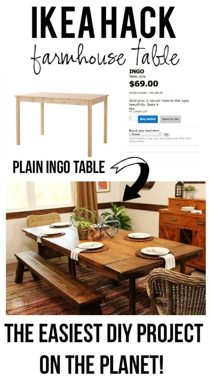 Build a Farmhouse Table The Easy Way