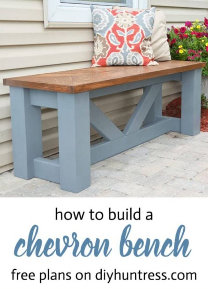 Build a Wooden Chevron Bench