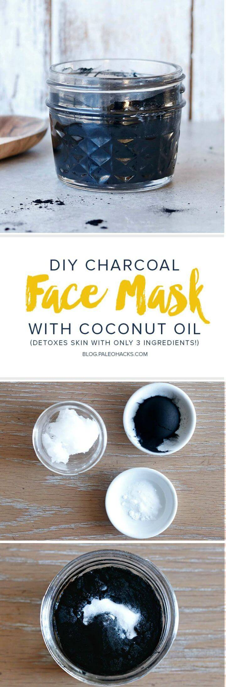 Charcoal Face Mask with Coconut Oil 1