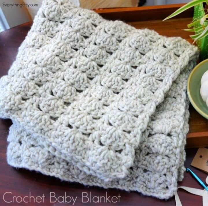 Chunky Crochet Baby Blanket Pattern