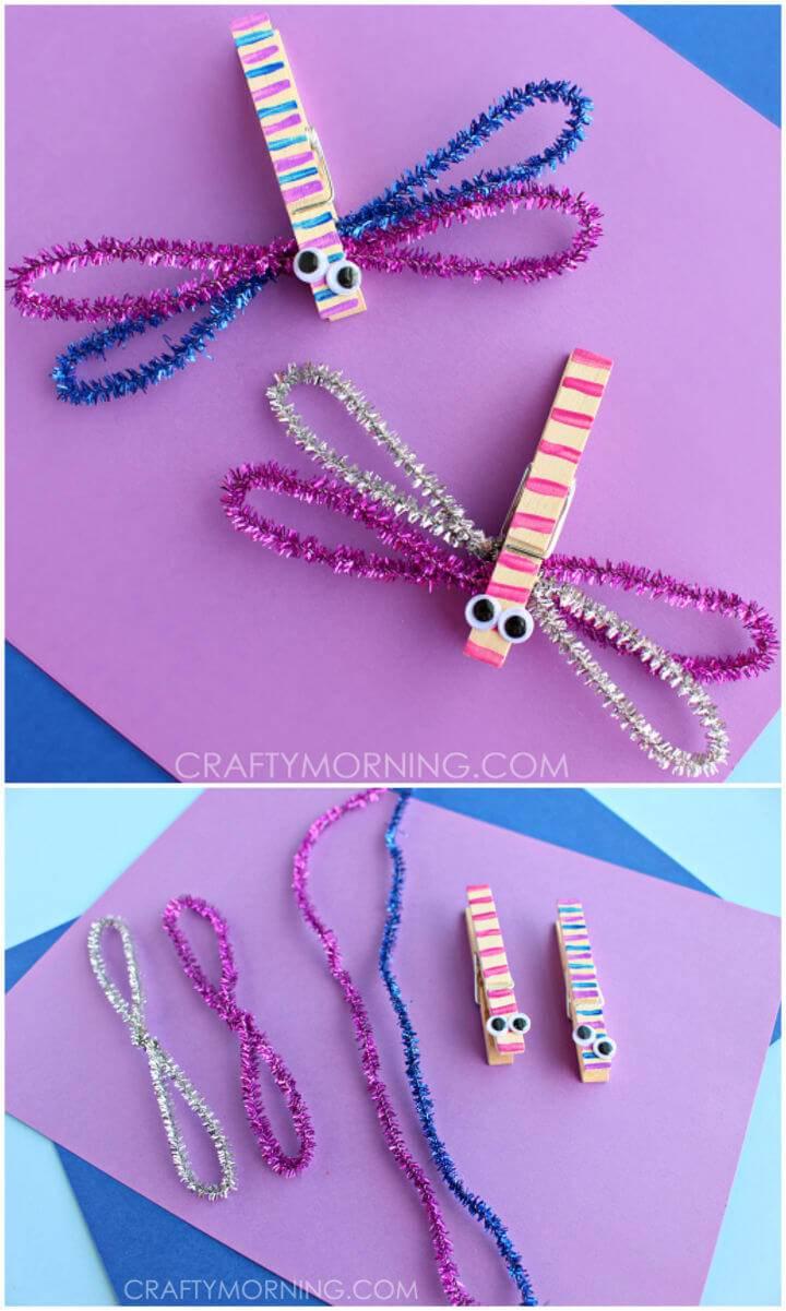 Clothespin Dragonflies Kids Craft