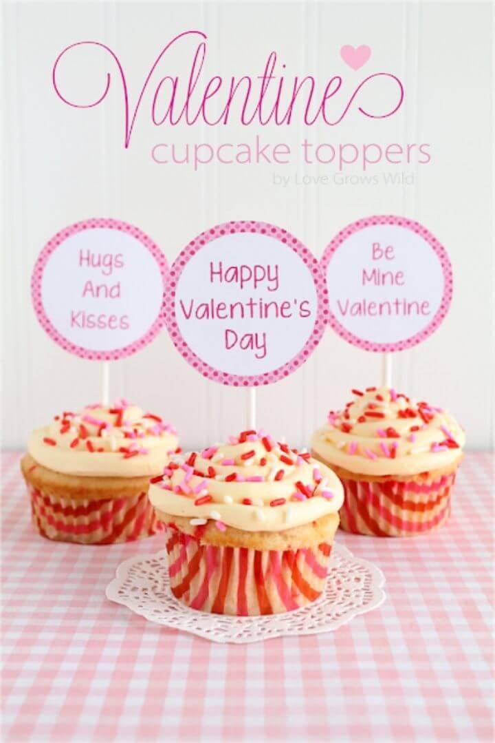 Create Valentine Cupcake Topper