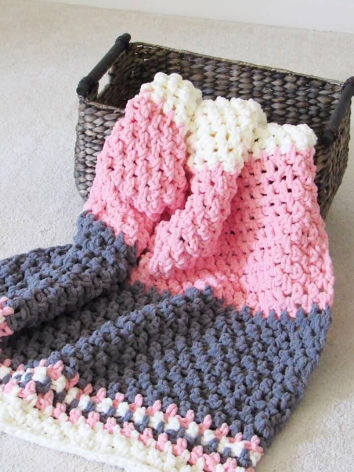Crochet Baby Blanket 5 Hours Free Pattern