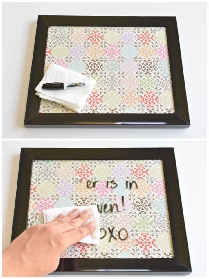 DIY 5 Minute Dry Erase Board