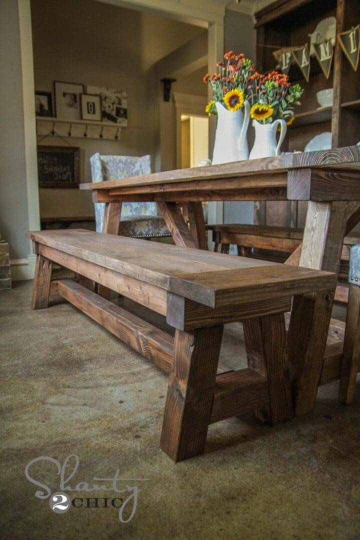 DIY Bench for the Dining Table Under 40