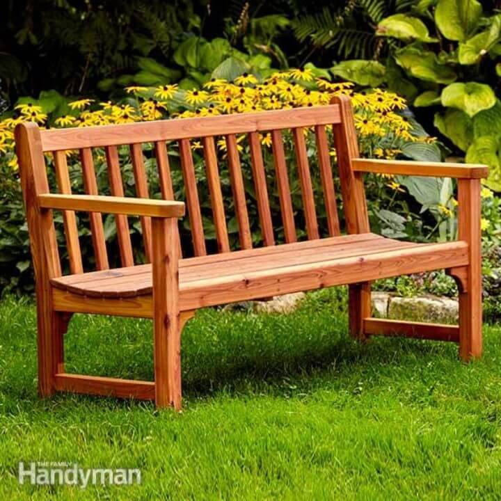 DIY Bench with Dowel Construction