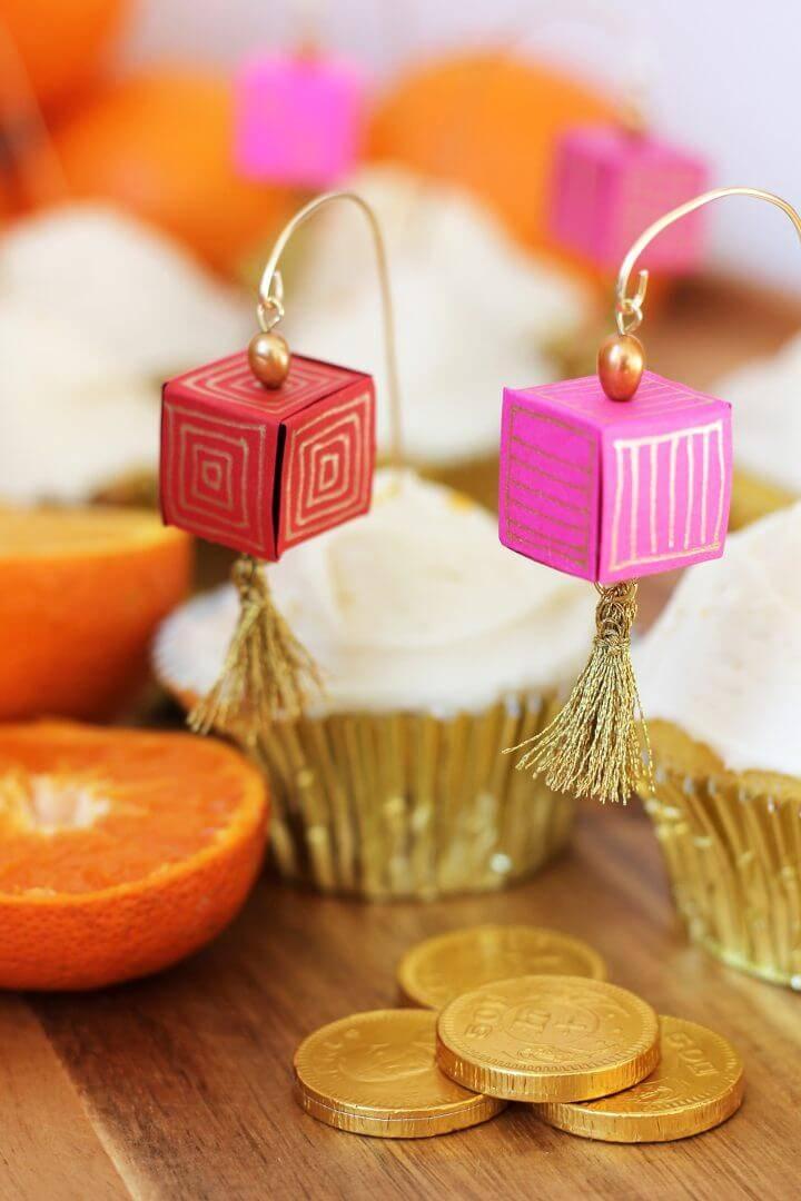 DIY Chinese Paper Lantern Cupcake Toppers