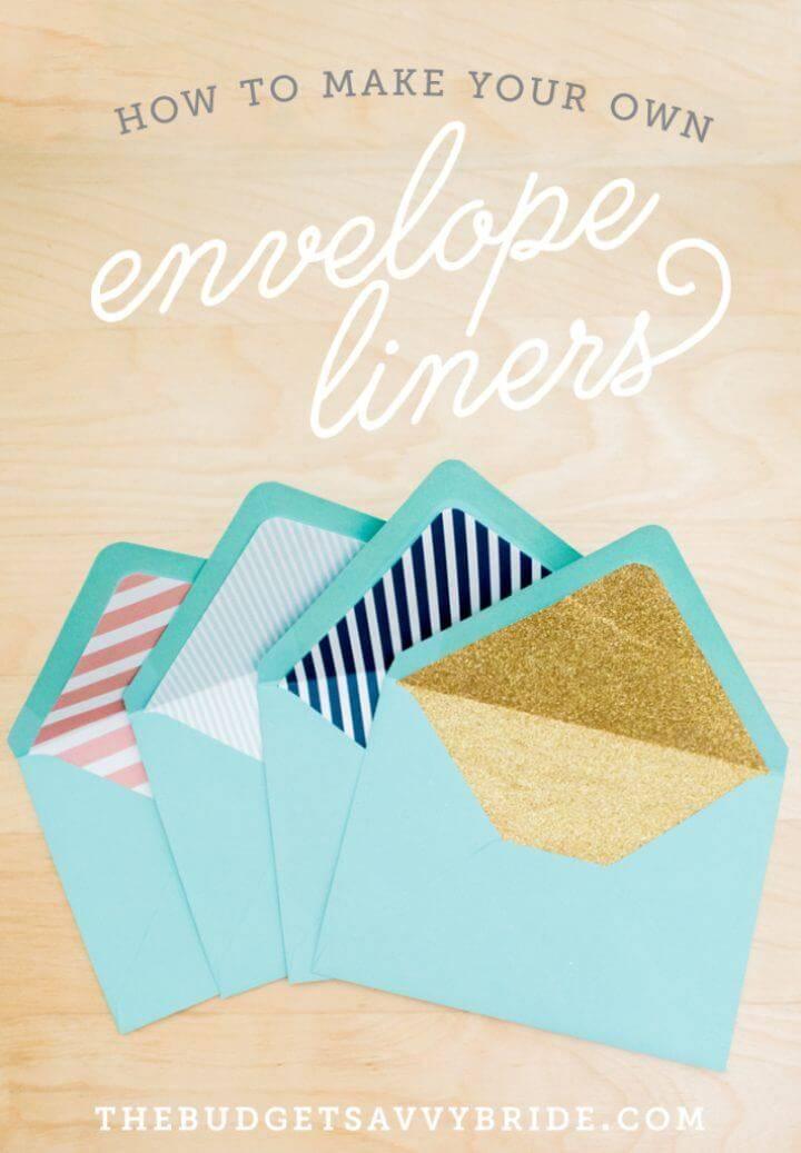 DIY Envelope Liner Tutorial