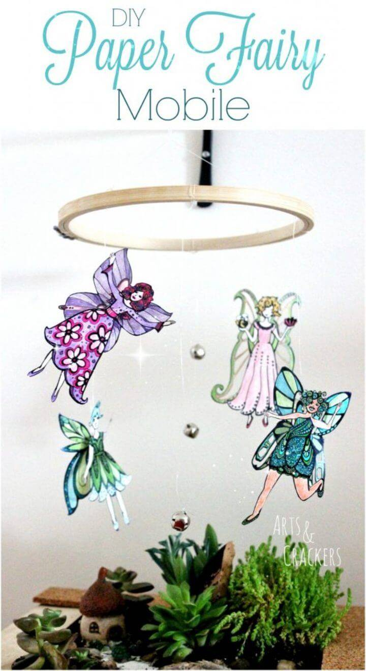 DIY Fairy Mobile Coloring Page Craft