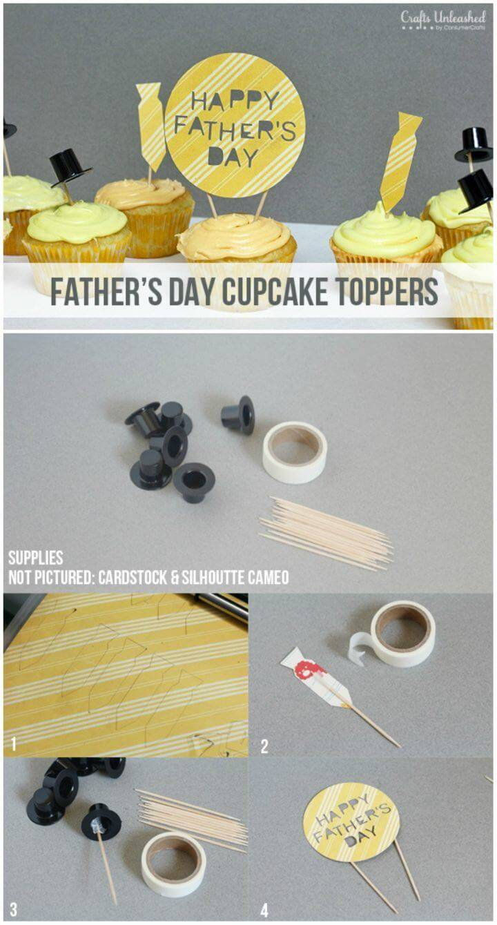 DIY Father's Day Cupcake Toppers Combo