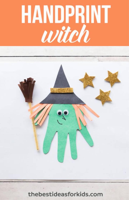 DIY Handprint Witch in 10 minute