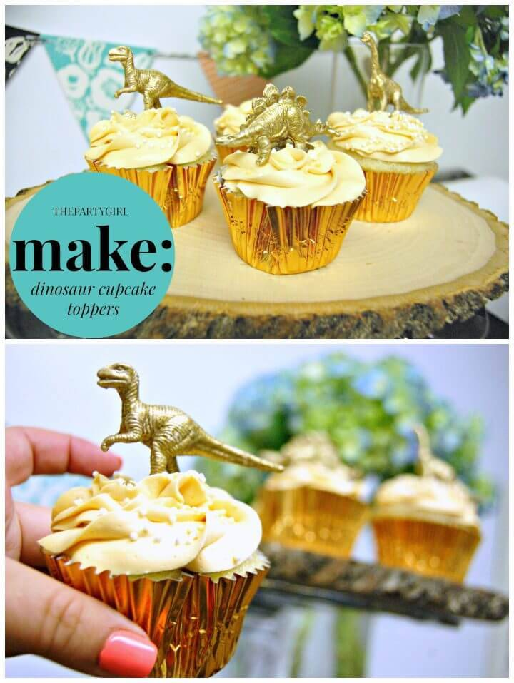 DIY Jurassic Cupcakes Toppers