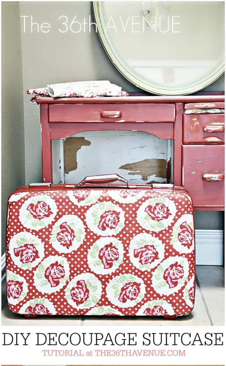 DIY Old Suitcase Using Coloring Page