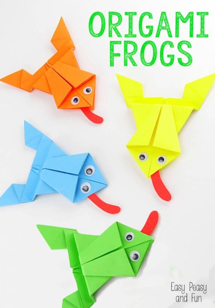 DIY Origami Frogs Tutorial 1