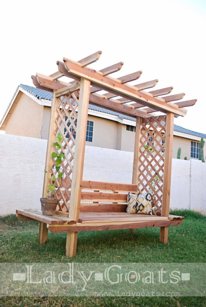 DIY Outdoor Bench with Arbor