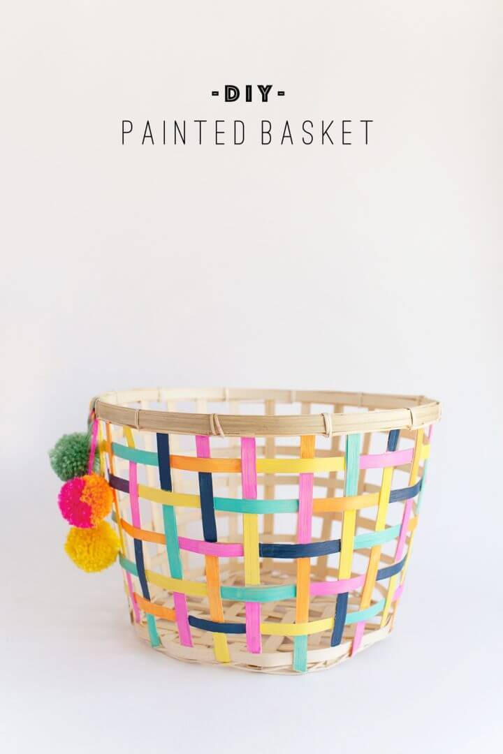 DIY Painted Basket Ikea Hack