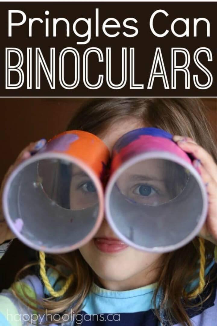 DIY Pringles Can Binoculars Craft for Kids