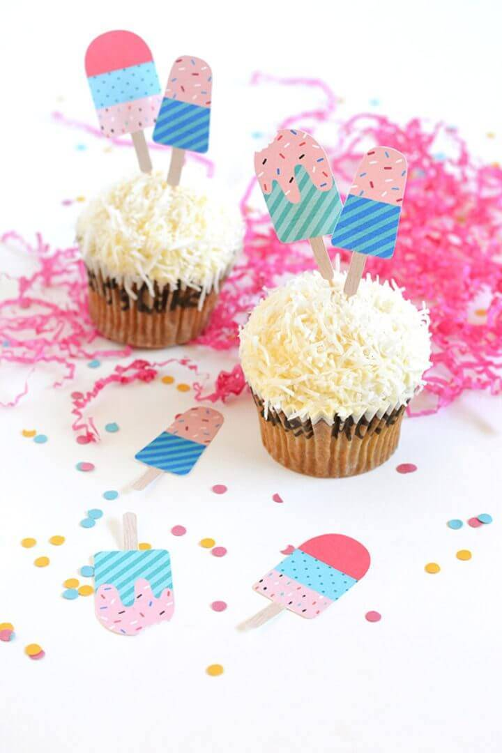 DIY Printable Popsicle Cake Toppers