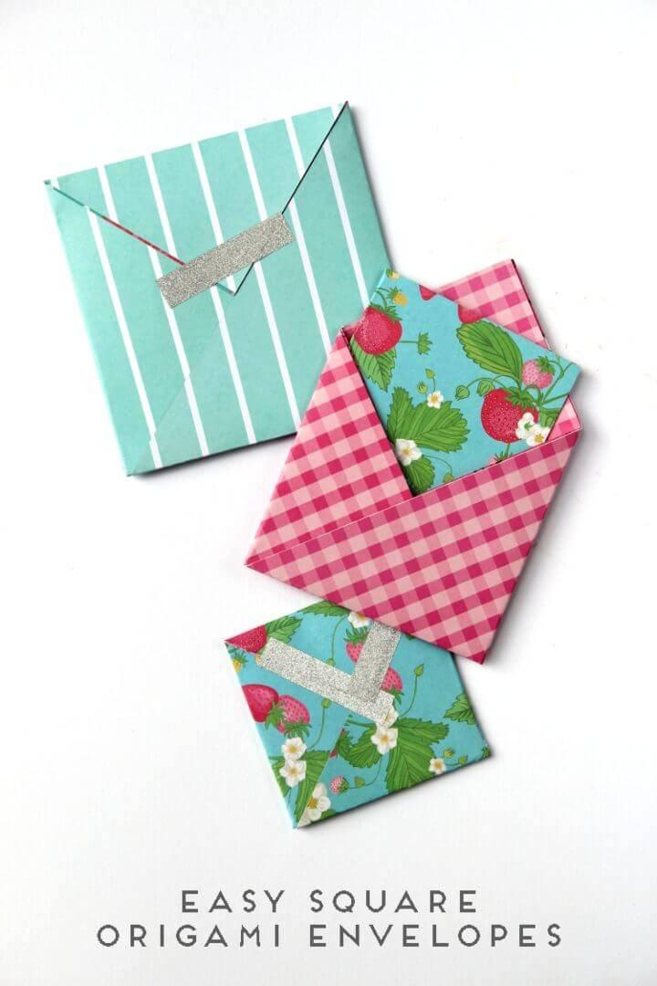 DIY Square Origami Envelopes