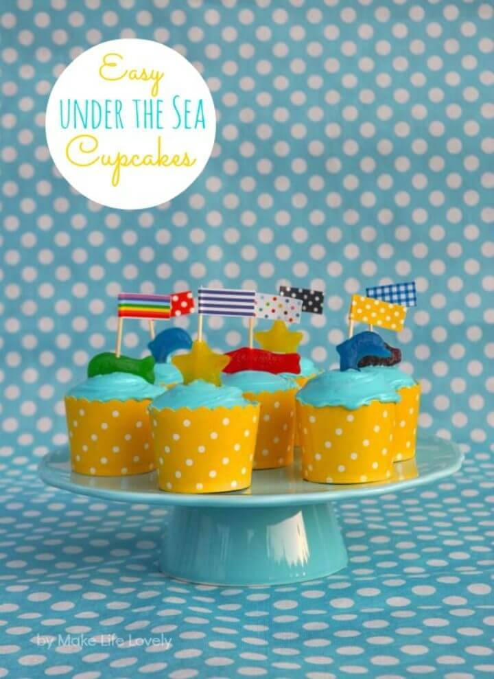 DIY Under the Sea Cupcake Toppers
